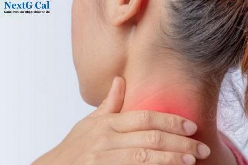 bị đau vùng cổ bên trái