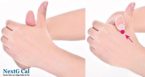 Bấm huyệt chữa đau khớp cổ tay phải trái