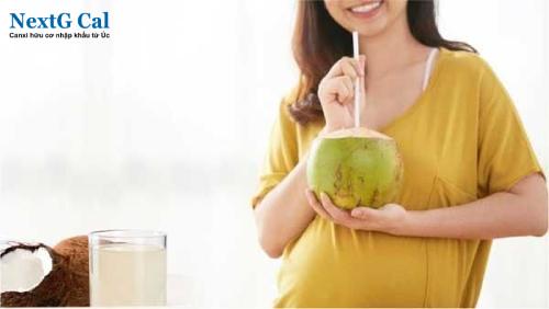 Bà bầu có nên uống nước dừa không