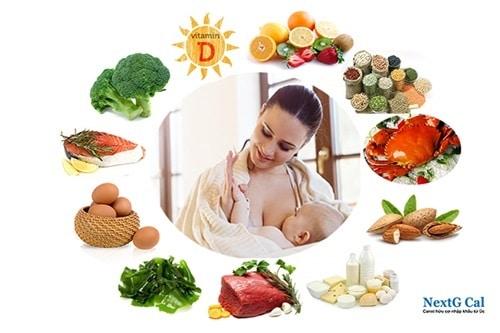 Trẻ sơ sinh thiếu canxi mẹ nên ăn gì
