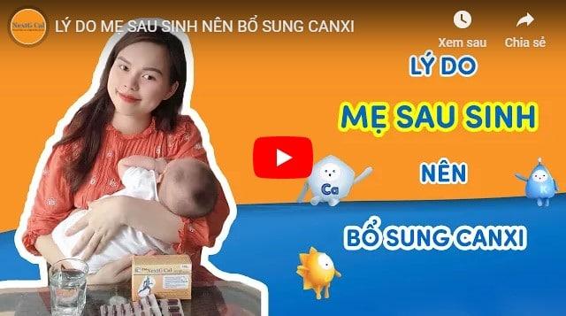 Video canxi cho mẹ sau sinh