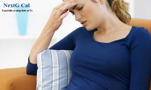 Phụ nữ mang thai bị đau đầu chóng mặt