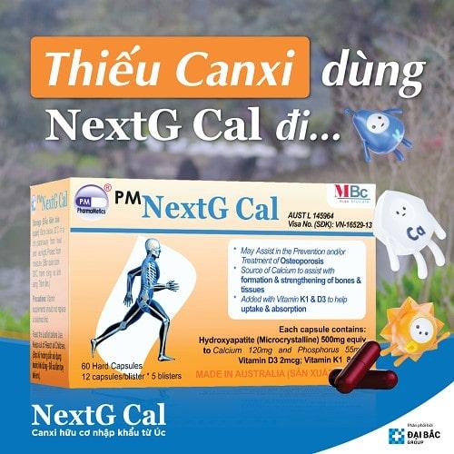 Nextg Cal bổ sung canxi hàng ngày