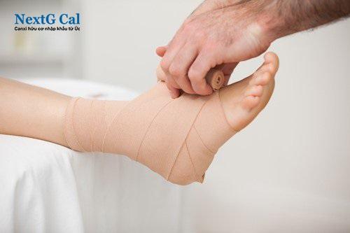 Vỡ xương sên bàn chân
