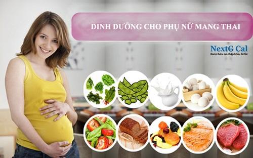 Dinh dưỡng cho mẹ bầu 3 tháng giữa