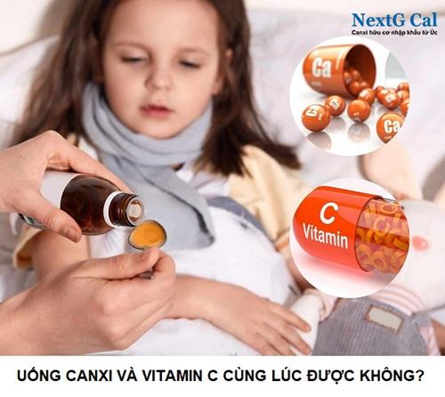Uống canxi và vitamin c cùng lúc được không