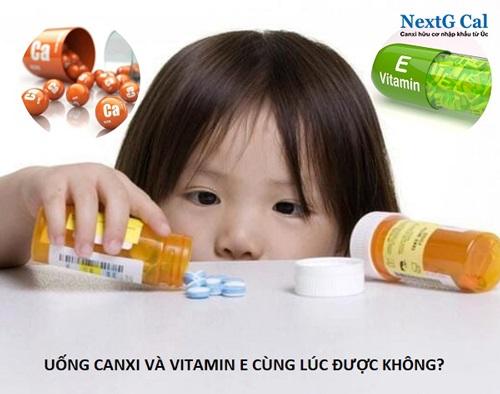 uống canxi và vitamin e cùng lúc được không
