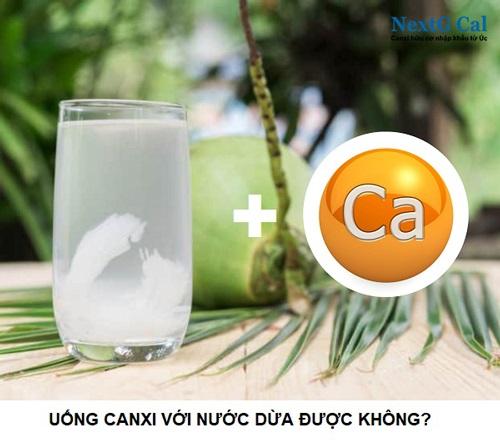 Uống canxi với nước dừa được không